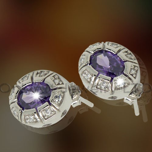 925Plain Silver Wedding Earring OAE0019