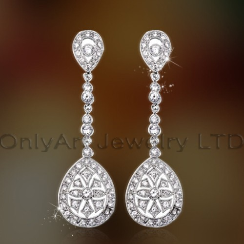 Women Fashionable 925 Solid Silver Earrings Jewelry OAE0027
