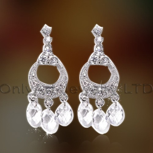 Women Fashionable Silver 925 Charm Earrings Jewelry OAE0031