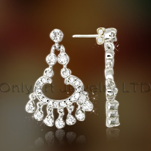 Women Fashionable Silver 925 Charm Earrings Jewelry OAE0032