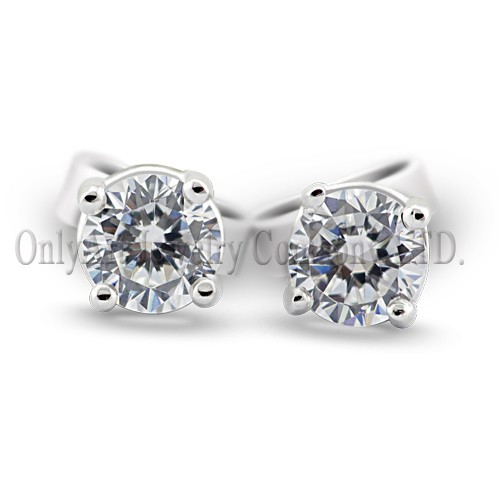 hot sales 5MM round CZ 925 silver earring stud