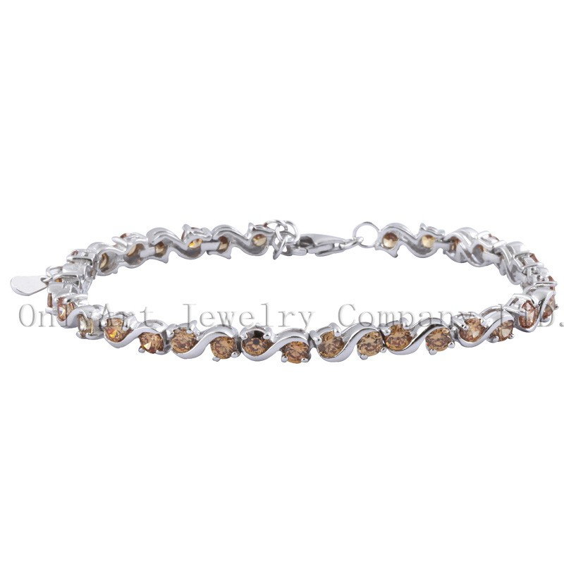 new fashion 925 sterling silver bracelets with gems zircons wholesale China manufacture