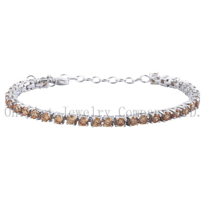 new fashion 925 sterling silver bracelets with zircons