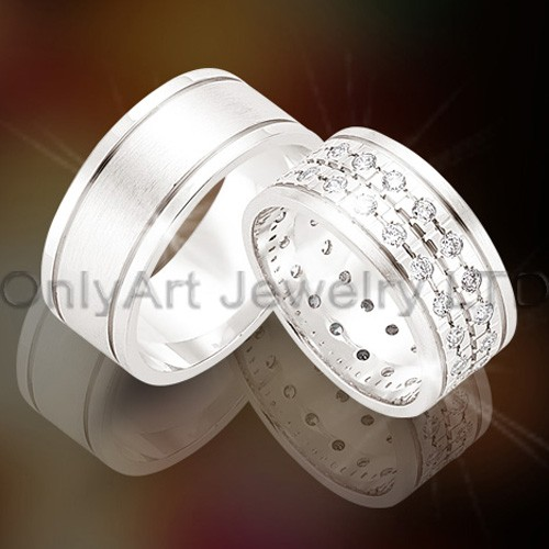 925 Silver Couple Ring for Engagement OAR0018