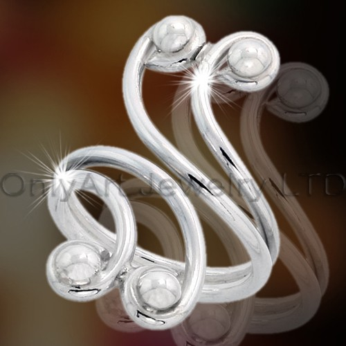 solid 925 Silver Ring for Lady OAR0025