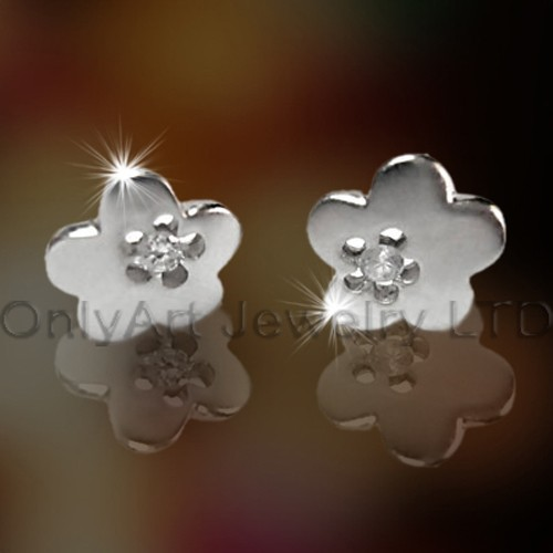 Steel Or Titanium Flower Earring OATE0028