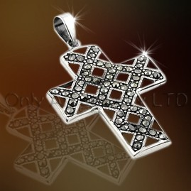Silver Cross Jewellery with CZ OAP0005