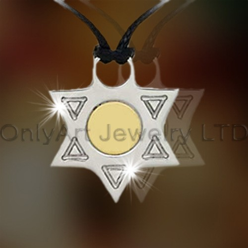 Fashionable Steel Or Titanium Star Pendant OATP0064