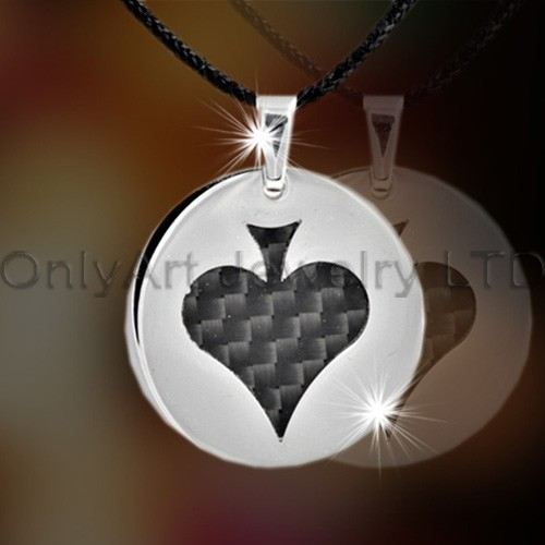 Steel Or Titanium Heart Jewelry Charm OATP0121