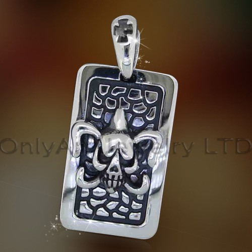 new fashional design jewelry stainless steel skull pendant for men