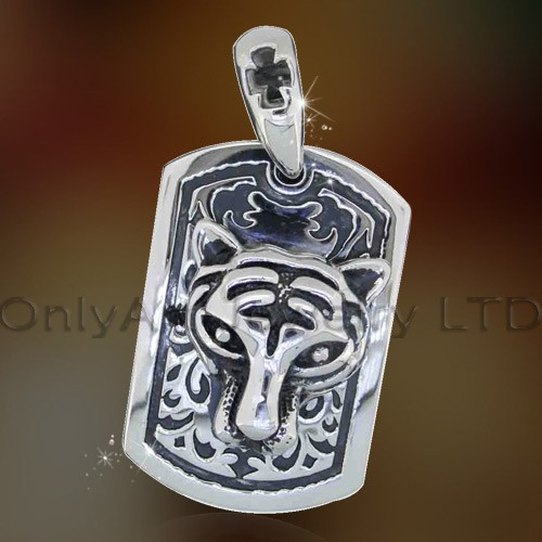 antique carved pendant, stainless steel carved pendant