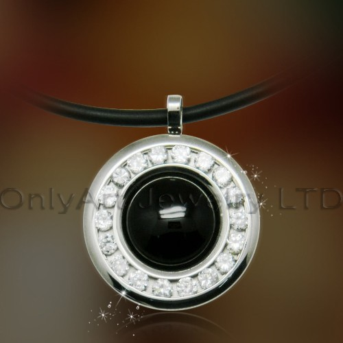 new design top quality fashionable onyx pendant steel paypal acceptable