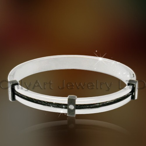 small order cheap price fashional bangle steel with high quality paypal acceptable