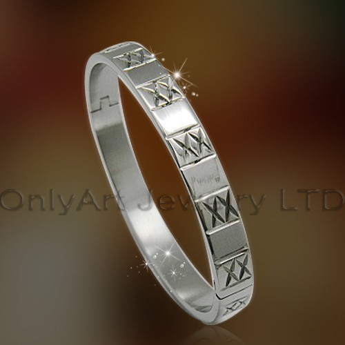 cheap 316l stainless steel or titanium bangle jewelry