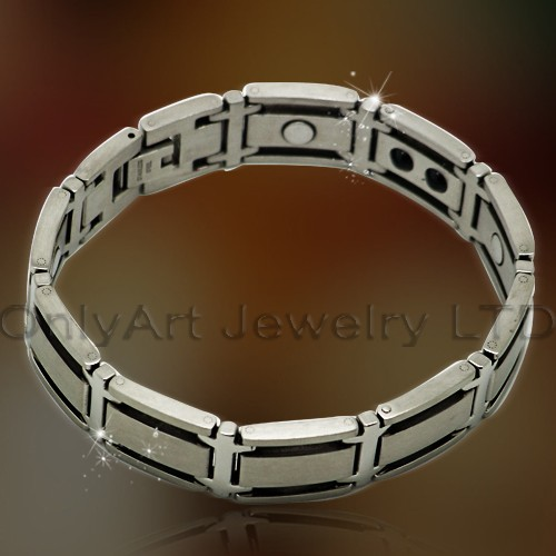 prompt delivery 316Lstainless steel magnetic bracelet paypal acceptable