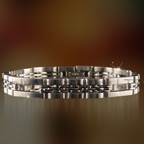 popular shiny polish stainless steel bracelet