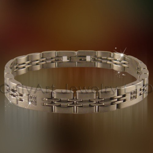 antique titanium or stainless steel bracelet