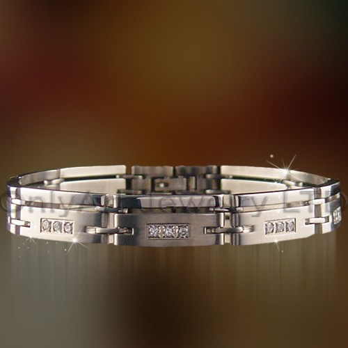 unique jewelry stainless steel or titanium bracelet