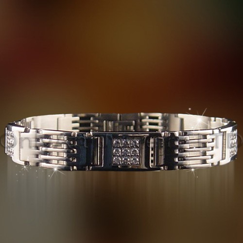beautiful stainless steel bracelet cz jewelry
