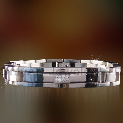 charmming stainless steel jewelry bracelet for men with AAA grades zircons paypal accepted bracelet