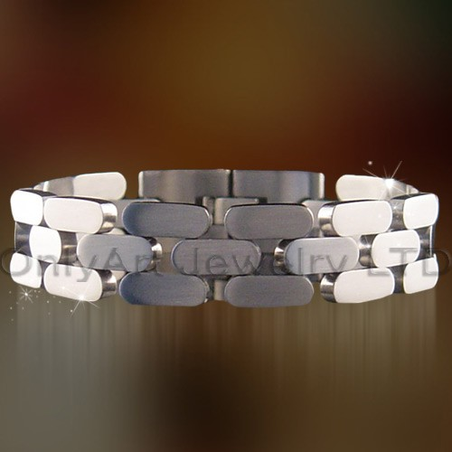 fashion design high quality classic stainless steel bracelet jewelry for men paypal accepted