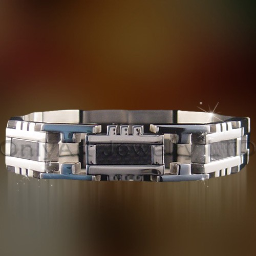 charm bracelet jewelry with carbon fiber inlaid