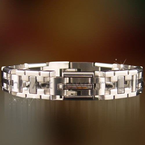 best quality china fashion magnetic bracelet steel jewelry