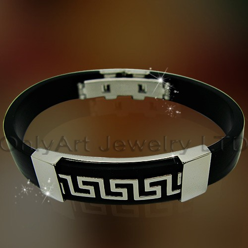 factory price unique design leather bracelet stainless steel bracelet