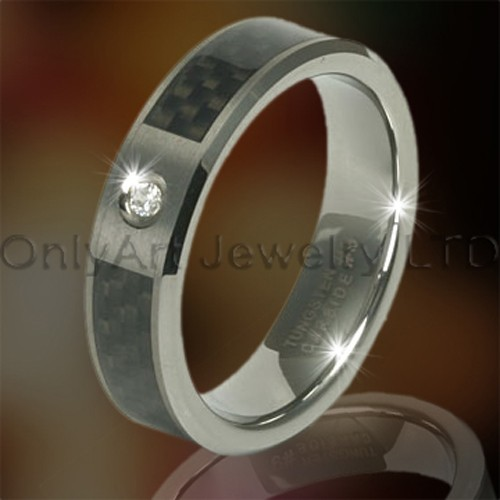 Tungsten Carbon Fiber Rings OAGR0083