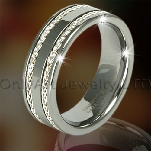 Inlaid Tungsten Ring For Men OAGR0093