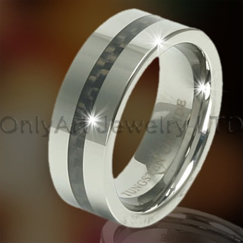 Tungsten Carbon Fiber Jewellery OAGR0098