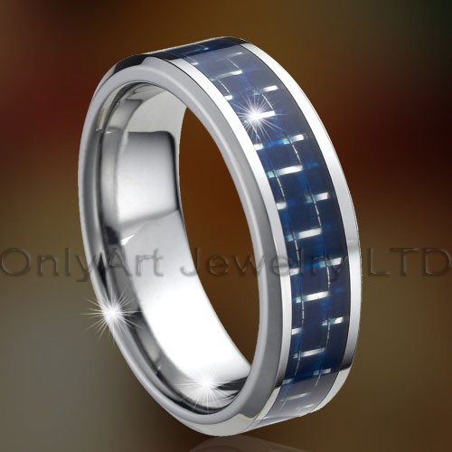 Enamle Blue Tungsten Rings OAGR0131