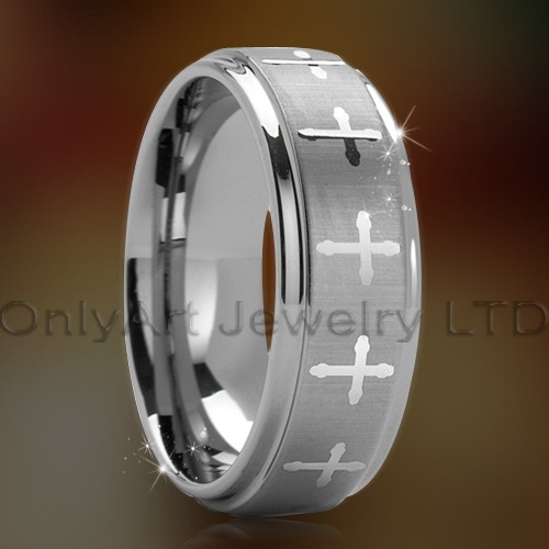 jewelry designer cross tungsten ring for everyone paypal accepted