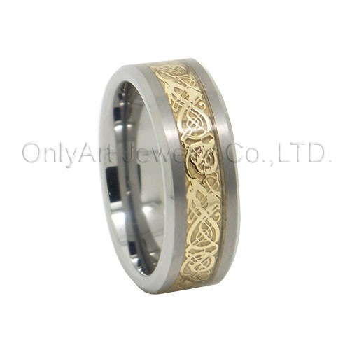fashoable gold men jewellery, tungsten jewelry