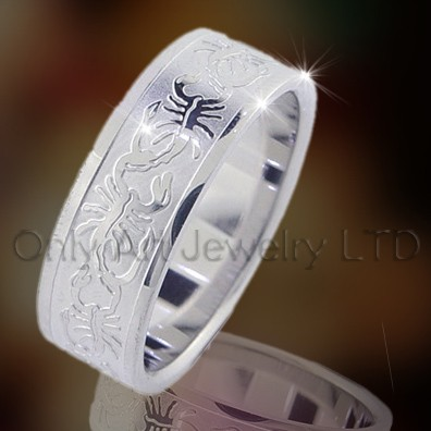 Steel Or Titanium Jewellery Rings OATR0047