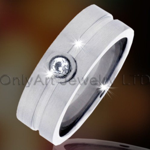316l Stainless Jewelry Ring With Zircon OATR0072