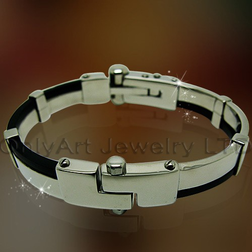 custom rubber bracelets cheap stainless steel jewelry