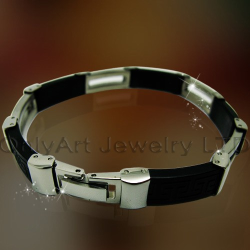 fashion costume jewelry rubber bracelets