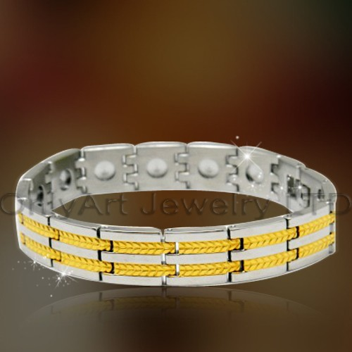 Best Price Steel Or Titanium Magnetic Bracelets OATB0088