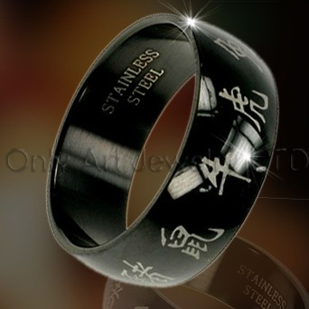 Fashion Black Rings OATR0033