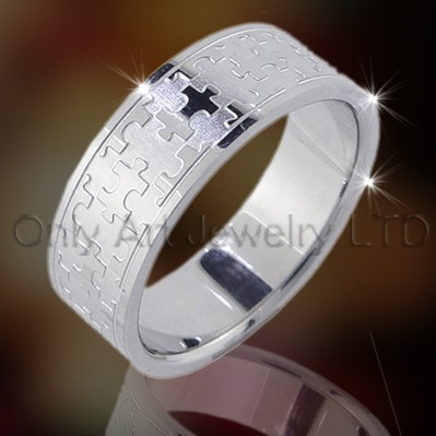 Stainless Steel Or Titanium Rings Jewellery OATR0046