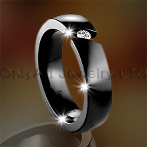 Steel Black Plated Titanium Jewelry OATR0090