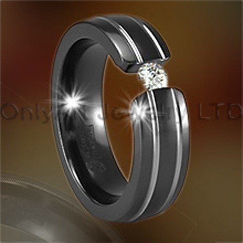 CZ Titanium Or Stainless Steel Jewelry Rings OATR0097