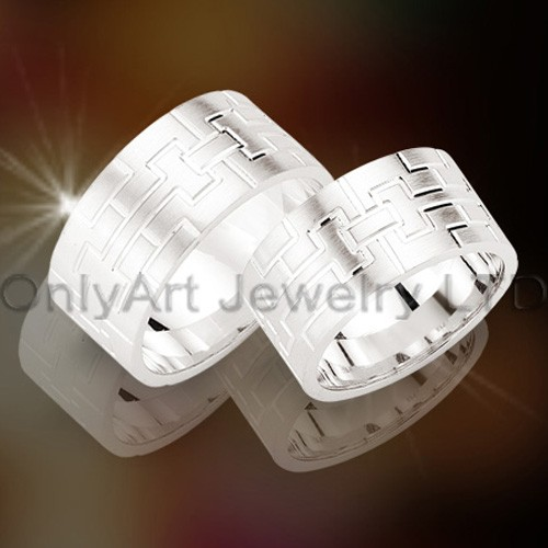 Steel Or Titanium Couple Rings OATR00109