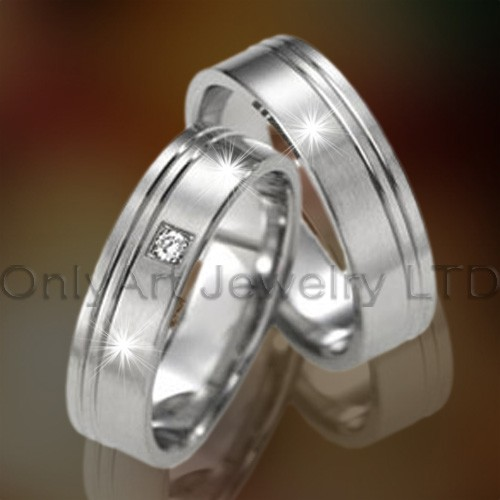 Stainless Steel Wedding Couple Rings OATR0137