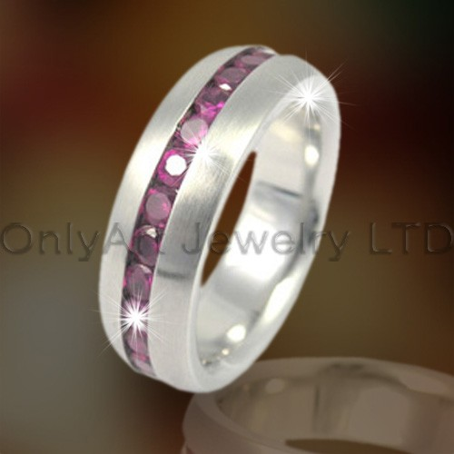 Stainless Steel Or Titanium Ring With Stone OATR0168