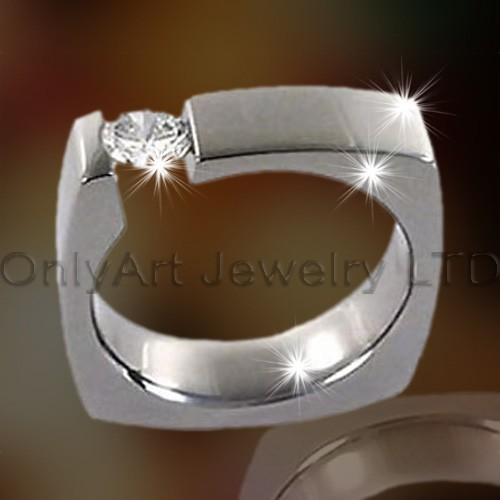 Square Titanium Ring Jewelry OATR0179