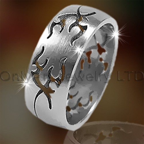 Antique Mens Steel Ring OATR0194