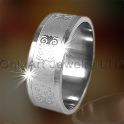 Engraved Titanium Rings OATR0202