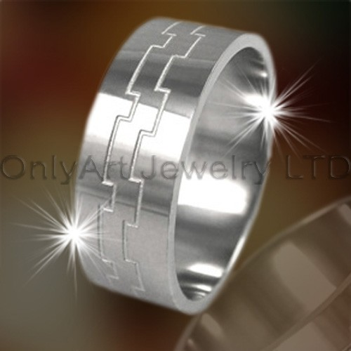 Engraved Titanium Rings OATR0203